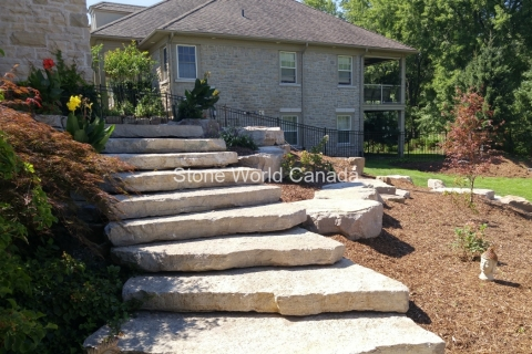 Armour Stone for hillside steps