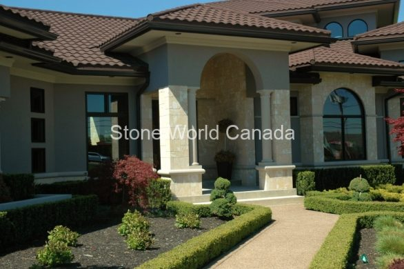 Front Entrance Designs with Stone Columns