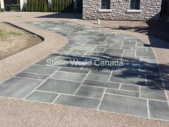 Blue Stone Square Cut Flagstone from Ontario Canada