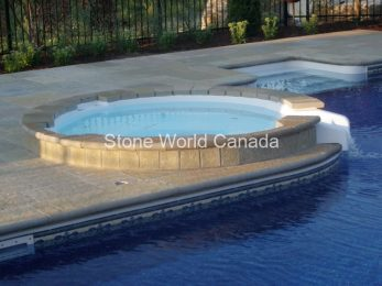 Stone Pool Coping and Stone Coping is sold at Stone World in London Ontario Canada