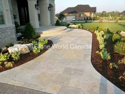 Front Entrance Design with Stone Path