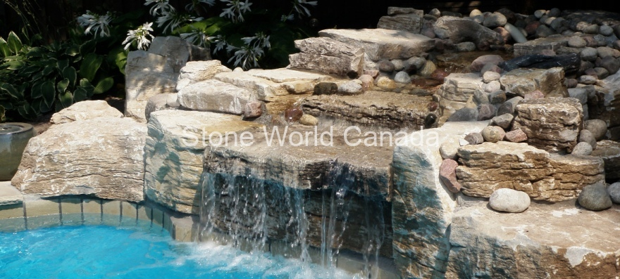waterfalls for swimming pools