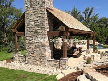 Backyard Fireplaces and Pergola Gazebo