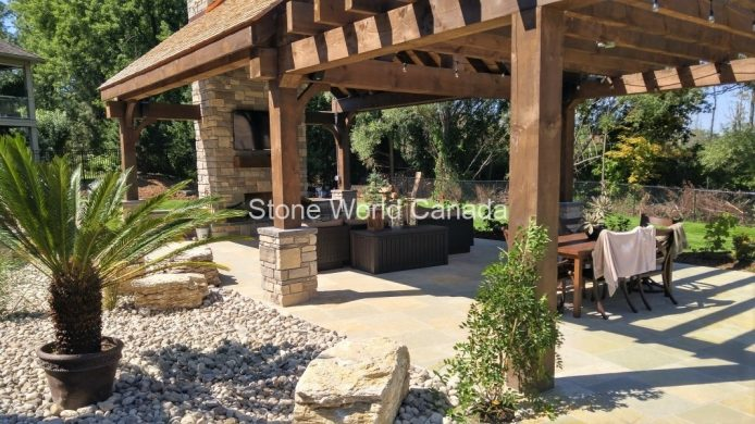 Outdoor Living with Natural Stone