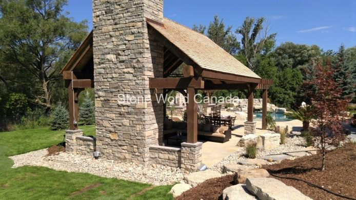 Outdoor Living - Stone Fireplaces
