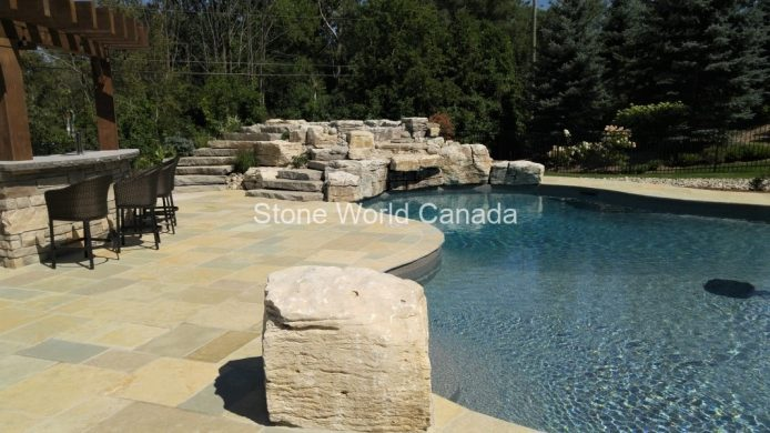 Watefall Stone and Landscape Rockery Supplier in Ontario Canada