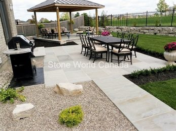 Backyard Landscaping projects using stone by stone world canada in london ontario
