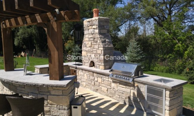 ledgerock Stone supplied and installed by Stone World Canada