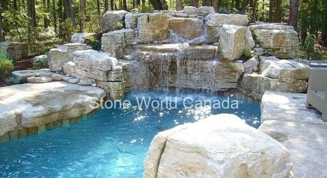 Waterfall stone supplier from Stone World Canada